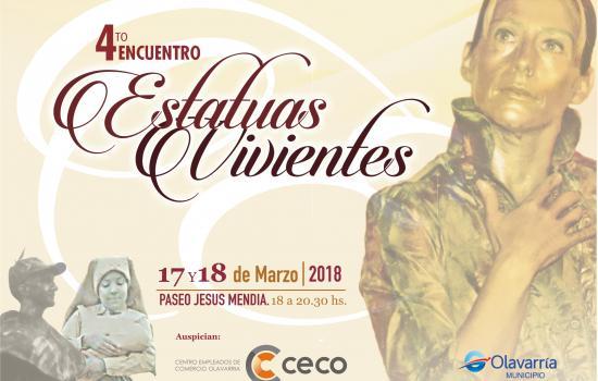 Cuarto encuentro de estatuas vivientes en Olavarría