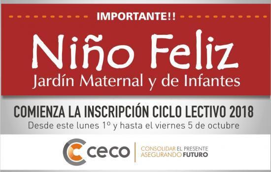 Inscripción Jardín Niño Feliz 2019