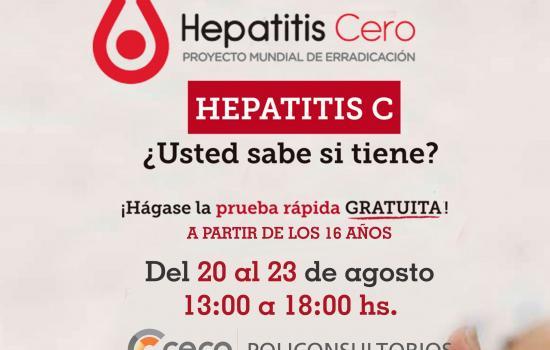 Campaña detección hepatitis C